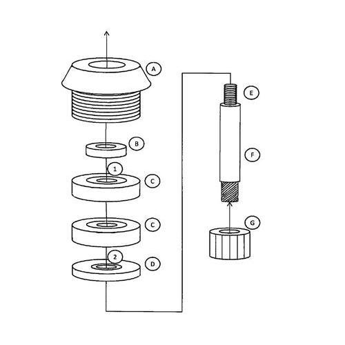 blendermart  bm00001  universal vitamix blade repair kit